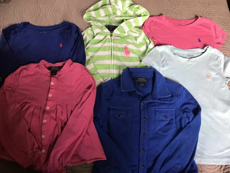 Polo Ralph Lauren Girls Tops  Shirts Hoodie Size 5 Lot Of 6 Pieces
