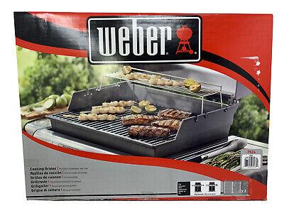 Weber Porcelain-Enameled Cast-Iron Cooking Grates 7524 (19.5 x 12.9 x 0.5) -