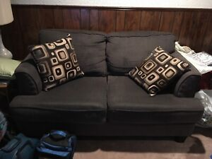Two seater navy blue couch/love seat