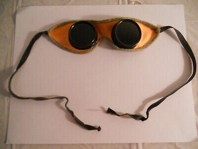 Vintage Welding Goggles Glasses Green Lens