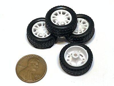 4 Sets Rubber Small Toy 20mm Diameter 2mm Shaft Car Robot Tire Wheel Dc 4pcs C21