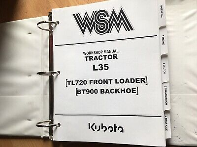 Kubota L35 Tractor Loader Backhoe Factory Original Workshop Repair Manual