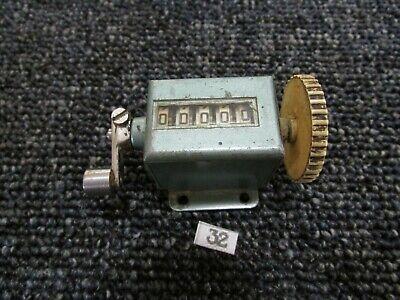 Vintage Enm Mechanical Counter 5 Digit Steampunk Number Machine English