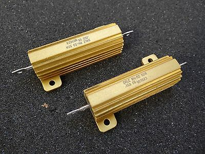 Lot 2 - Vishay Dale 0.15 Ohm 50w 1 Resistor Rh-50 Aluminum Housed Chassis Mount