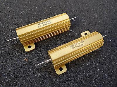 Lot 2 - Vishay Dale 0.15 Ohm 50w 1 Resistor Rh-50 Aluminum Housed Chassis Mount