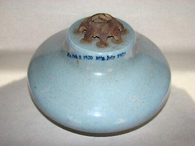 Vintage Porcelain Jeffrey DeWitt Insulator.  Blue Circa 1923.Good Condition.