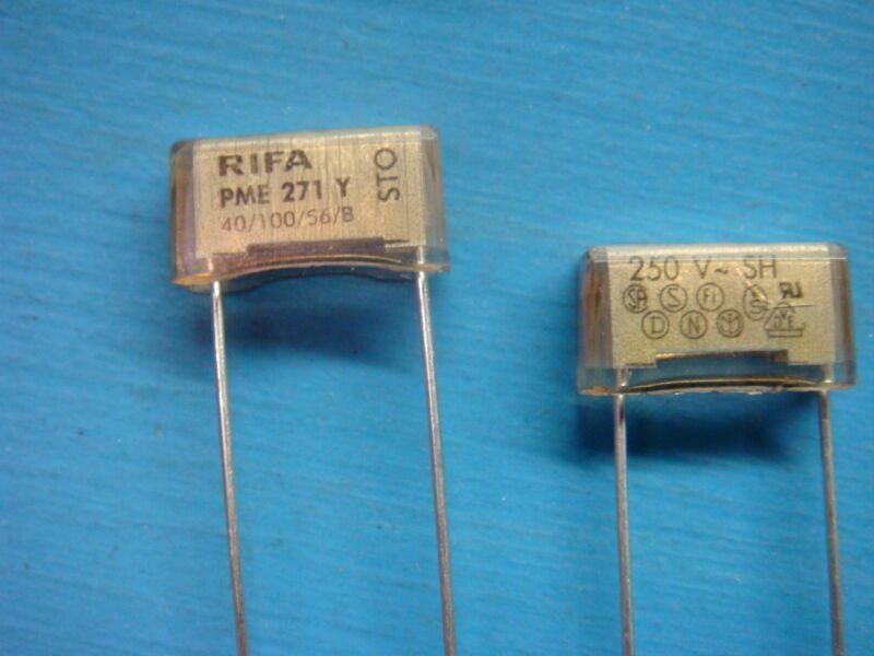(10) RIFA PME271Y410M 250V 1000pF PME271 RADIAL SUPPRESSOR PAPER FILM CAPACITOR
