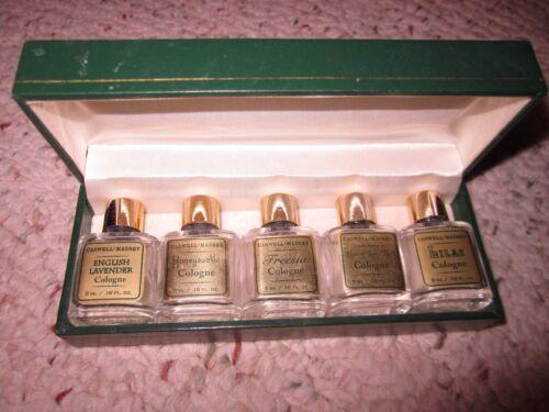 Vintage Caswell Massey Gift Set-5 Mini Cologne Bottles!!!