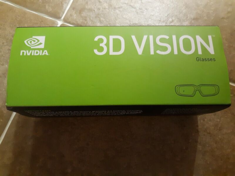 Nvidia 3D Vision Wireless Glasses, 3D Blu-Ray Movie 3D Gaming opened but unused