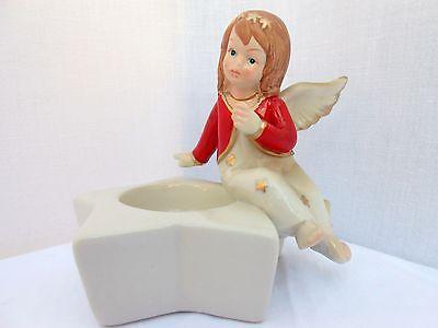 Tischdekoration Engel Polystone für Teelicht Dekoration Weihnachten neu 500385