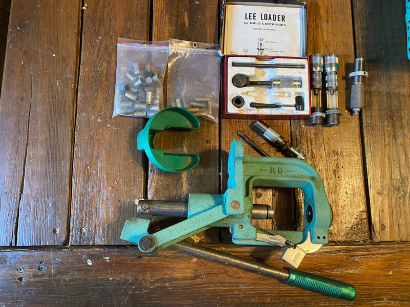 RCBS Rock Chucker with Extras-dies-SH- Lee Loader- Casings — FREE SHIPPING