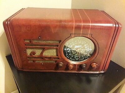 ANTIQUE ,VINTAGE, DECO ,COLLECTIBLE - OLD TUBE RADIO ZENITH 5s119 RESTORED for sale  Shipping to Canada