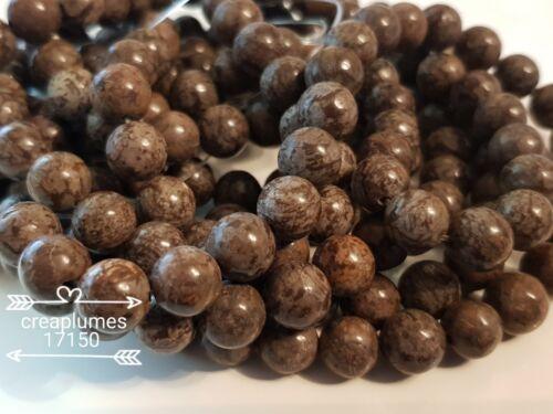 lot de 10 perles naturelles obsidienne     8mm