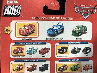 Disney Pixar Cars Metal Mini Racers Piston Cup Rivalries Series 3-Pack + BONUS!!