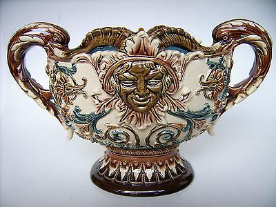 Keramik Schale Bodenbach Gerbing&Stephan Austria Majolica Historismus um 1880