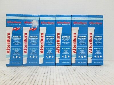 6 AFTER BURN SERIOUS TREATMENT FOR BURNS ADVANCED PAIN RELIEF  2 OZ EACH LL 7665