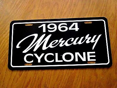 1964 Mercury Comet CYCLONE license plate tag 64 High Performance Model