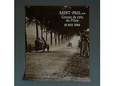 SAINT-PAUL Course de Côte de Pilon 1966 Oldtimer Rallye * Original Plakat Poster