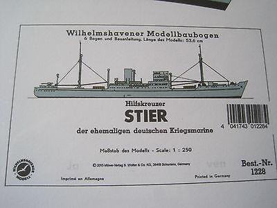 Stier Hilfkreuzer Wilhelmshavener Modellbaubogen Bastelbogen Kartonmodell