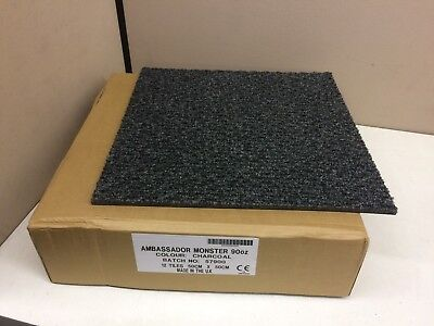 Case Of 12 Commercial Entry Entrance Carpet Tiles 50cm Square Tile Charcoal 90oz