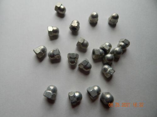 METRIC ACORN-CAP NUTS  M8-1.25  DIN 1587  ZINC  12 PCS. NEW-NOS SEE DESCRIPTION