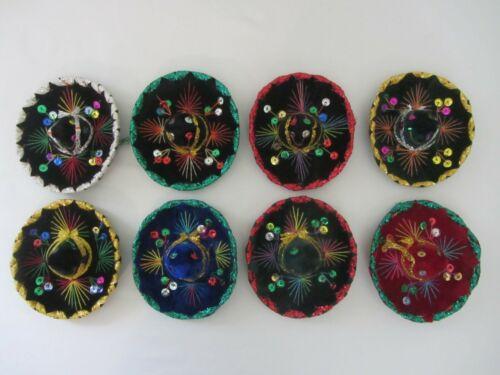 Set of 8 Mexican Mini Charro Hats, Party Favors, Sombreros, Cinco De Mayo