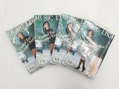 4 Packs Music Legs Lycra Control Top Support -