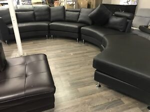 Real leather mega sectional!