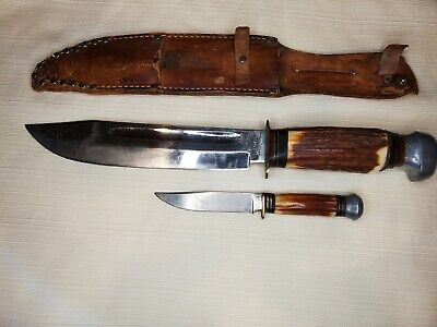 """PUMA STAG SOLINGEN BOWIE KNIFE (LARGE) TWIN SET (6320) 8"""""""