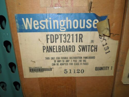 Westinghouse Fdpt3211r 30a 3p 240v Twin Fusible Panelboard Switch New Surplus