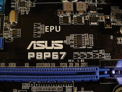 ASUS P8P67, LGA 1155, Intel (MIBE40-A37) Motherboard + i5 3.3GHz + 1GB HP3 10666 for sale  Cedar Park