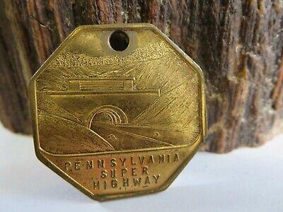 Vintage 1946 Pennsylvania Super Highway Pocket Watch Fob Key Chain KCA1