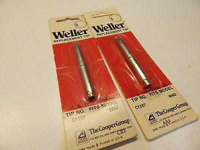2 Weller Ct5e7 700 Deg 14 Screwdriver Tip For W60 Soldering Irons - Lot Of 2