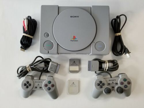 Sony Playstation 1 PS1 Console - AUTHENTIC Controllers - TESTED - GUARANTEED