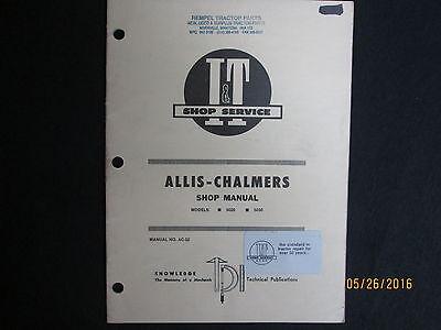 Allis-chalmers Models 5020 5030 It Tractor Shop Service Repair Manual