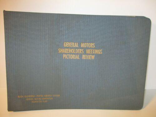 Vintage General Motors Shareholders Meetings Pictorial Review Wilmington DE