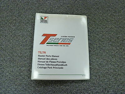 Lister Petter T Series Ts Tr Diesel Engine Parts Catalog Manual Book