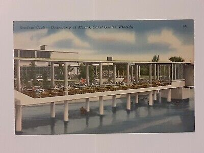 Vintage University Of Miami Postcard