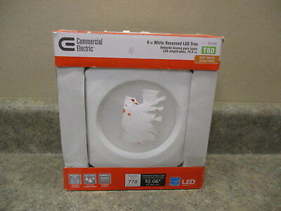 """COMERCIAL ELECTRIC SOFT HITE 6"""" RECESSED LED TRIM 145 534 NEW"""