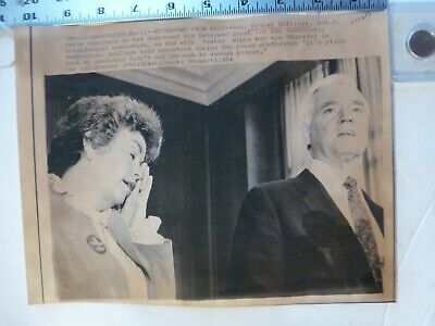 Vintage Wire Press Photo-Ernest Hollings Withdraws From Race Wash DC 3/1/1984 for sale  Shipping to Ireland