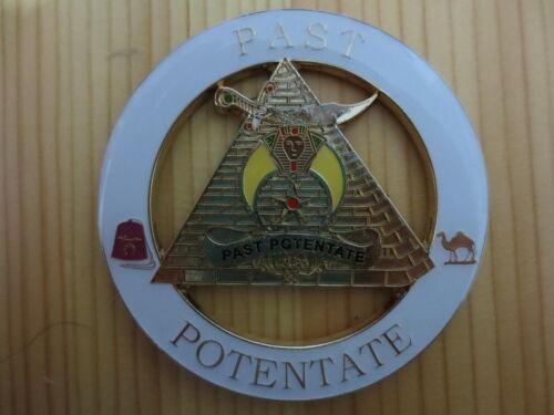 Masonic Auto Car Badge Emblems E15 Mason Freemason PAST POTENTATE