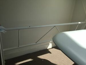 White metal desk with tempered glass top Dundas Valley Parramatta Area Preview