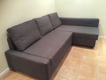 Grey Sofa with Chaise and Storage Prospect Blacktown Area Preview