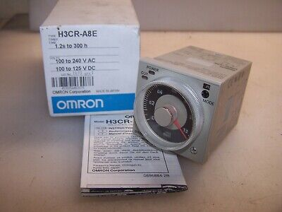 New Omron 1.2s To 300 Hour Solid State Timer 100 To 240 Vac H3cr-a8e