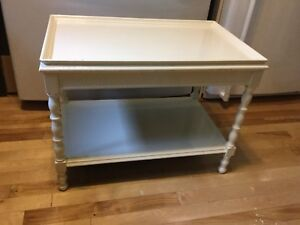 Butter cream side table single