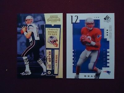 Tom Brady Rookie Rp Reprint 2000 Playoff Contenders Ticket Auto   Ud Sp 12 1250