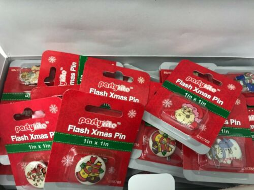 5 packs - Assorted Christmas holiday light flash pins Santa Xmas size 1inx1in
