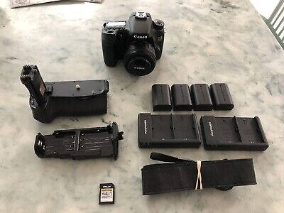 Canon EOS 70D Digital SLR Camera - with Accessories + 50mm f/1.8 Canon Lens