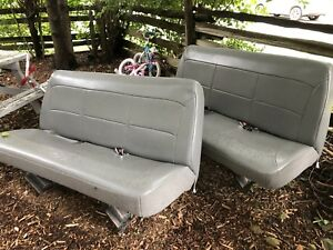 2 grey Bench seats