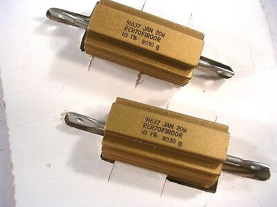 Mil Spec Dale Rh-25 20 Watt 1 Ohm 1 Power Resistors Rer70f1r00r